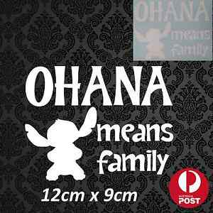 Ohana Means Family Stitch Disney Sticker Decal White or