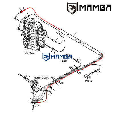 MAMBA PC200-7 Floor Frame PPC Line Hose 20Y-62-44270 for