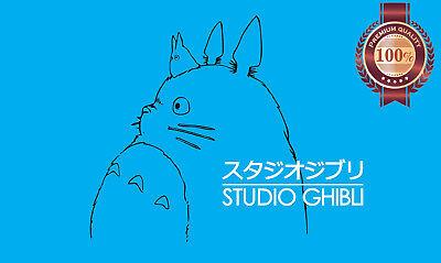 studio ghibli logo hayao miyazaki totoro wall art blue print premium poster ebay