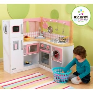 kidkraft toy kitchen fan cover grand gourmet corner role play toys pink image is loading