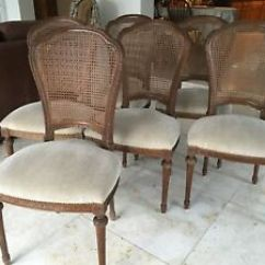 Antique Cane Dining Room Chairs Personalized Folding Stadium Set Of 6 French Louis Xvi Style With Image Is Loading