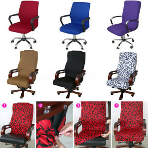 desk chair cover walmart high swivel computer stretch office spandex armchair image is loading