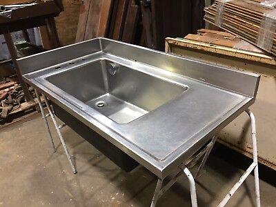 large stainless steel side faucet science sink industrial kitchen corner pet ebay