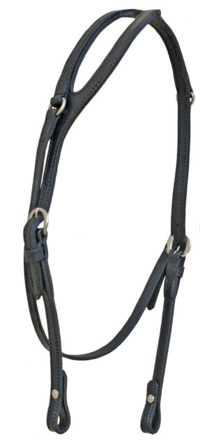Pony Size One Ear Black Leather Headstall Complete with