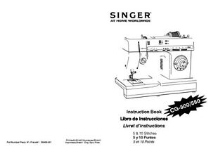 Singer CG-500-CG-550 Sewing Machine/Embroidery/Serger