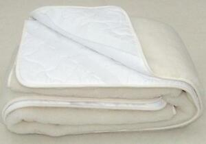 Image Is Loading Merino Wool Underblanket 100 Natural Cot Bed Mattress