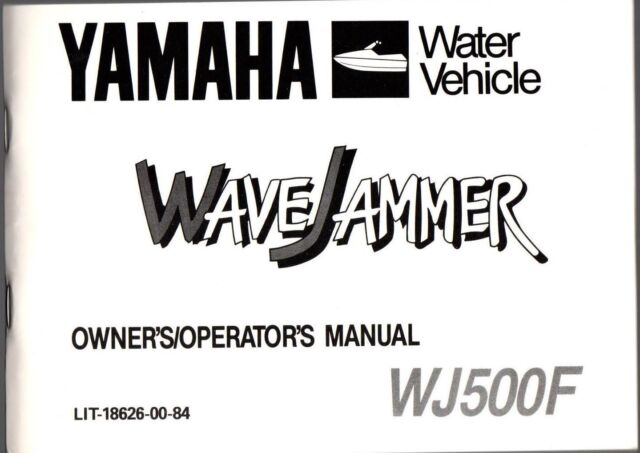 1989 YAMAHA WATER VEHICLE WAVEJAMMER WJ500F OWNERS MANUAL
