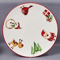 Christmas Tableware Ceramic Santa & Friends Set of 2 ...