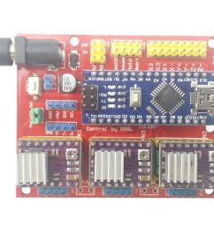 arduino nano cnc shield drv8825 board package kit w 3x optical limit switch [ 1600 x 1347 Pixel ]