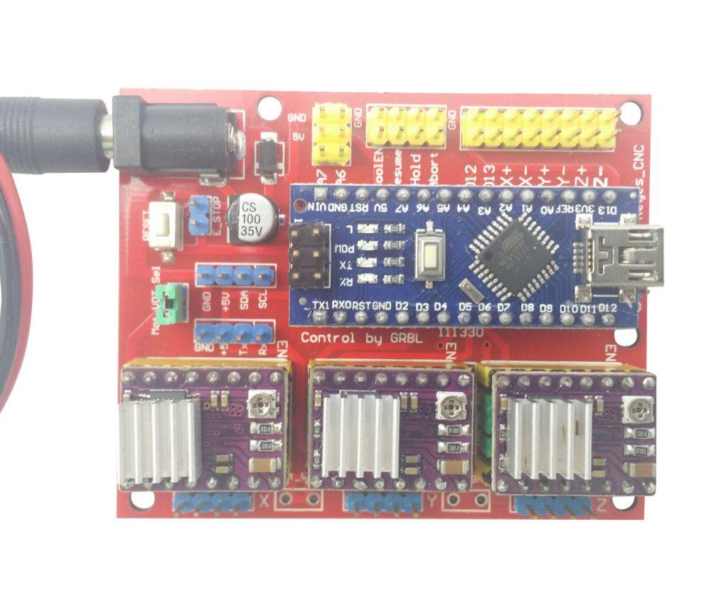 medium resolution of arduino nano cnc shield drv8825 board package kit w 3x optical limit switch