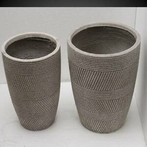 Plant Pots Planters Garden Large Flower Indoor Outdoor Gray Tb0120 Lot 4 Pieces Ebay