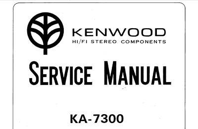 KENWOOD KA-7300 SERVICE MANUAL BOOK IN ENGLISH STEREO