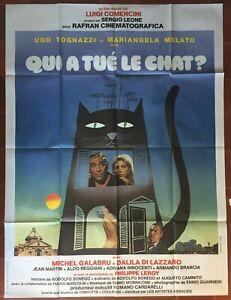 Qui A Tué Le Chat ? : Affiche, Gatto, LUIGI, COMENCINI, Tognazzi, 120x160cm