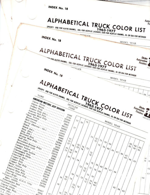 1964 1965 1966 1967 1968 1969 1970 1971 TO 1978 TRUCK