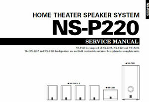 YAMAHA NS-P220 SERVICE MANUAL BOOK IN ENGLISH HOME THEATER