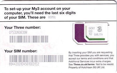 UK MOBILE SIM CARD .3 HELLO MINT UNUSED. | eBay