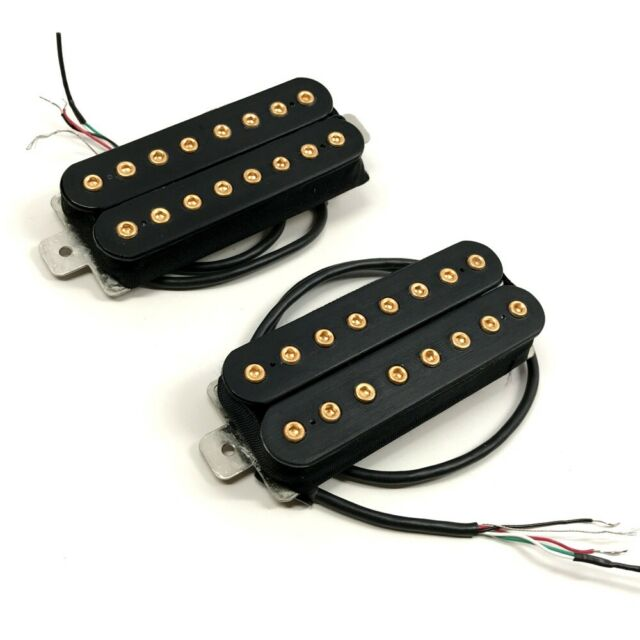 Bare Knuckle Aftermath 8-String Pickup Set. 4-Conductor. Gold Bolts   eBay