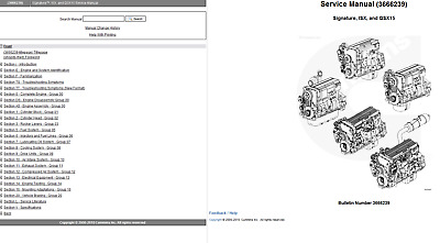 Cummins Signature ISX 435ST TECH Service Repair Manual
