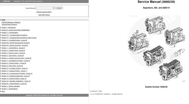 Cummins ISX Qsx15 Diesel Engine Service Manual Volume 1