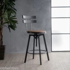 Kitchen High Chairs Personalized Toddler Chair Industrial Metal Bar Stool Adjustable Wood Back Image Is Loading