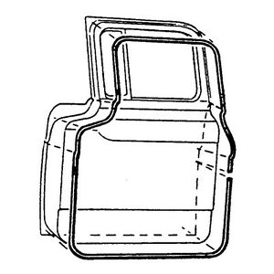 1957-1958-1959-1960 FORD TRUCK COMMERICAL DOOR SEAL KIT