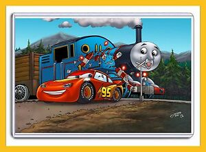 DISNEY CARS LIGHTNING McQUEEN AND THOMAS THE TRAIN 11 X