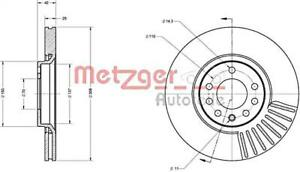 METZGER Brake Disc For OPEL SAAB Adam Astra G H GTC