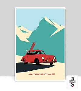 details zu porsche 356 in the alps porsche poster garage aluminum poster 18 x 24