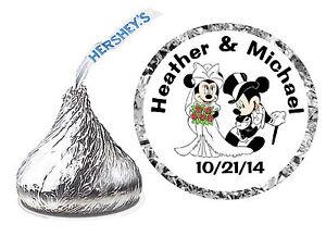 216 DISNEY MICKEY AND MINNIE WEDDING FAVORS HERSHEY KISSES