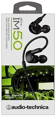 Audio-Technica ATH-IM50 Dual symphonic-driver In-ear Monitor headphones black   eBay