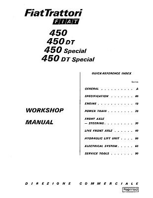 FIAT NEW HOLLAND 450 450S 450DT S TRACTOR SERVICE MANUAL