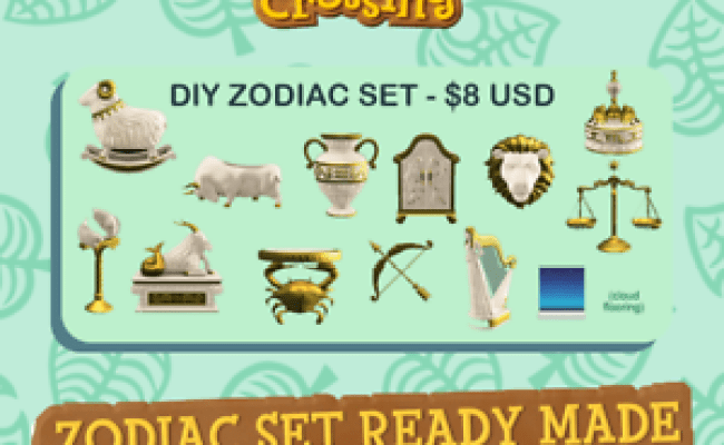 Animal Crossing New Horizons All 12 Zodiac Diy Star