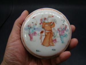Chinese Tong Zhi (1862-1874) nice famille rose box c5931