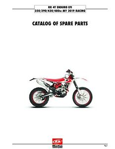 Beta Parts Manual Book Chassis & Engine 2019 RR 4T ENDURO