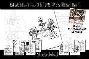 Rockwell Milling Machine 21-122-W/49-697 & 52-020