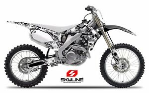 2007 2008 2009 RMZ 250 GRAPHICS KIT SUZUKI BONECRUSHER