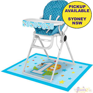 safari high chair buy baby jungle animals boys 1st birthday party supplies details about decorating kit