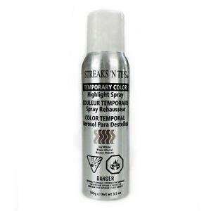 streaks n tips temporary highlight hair color spray icy white 3 5oz