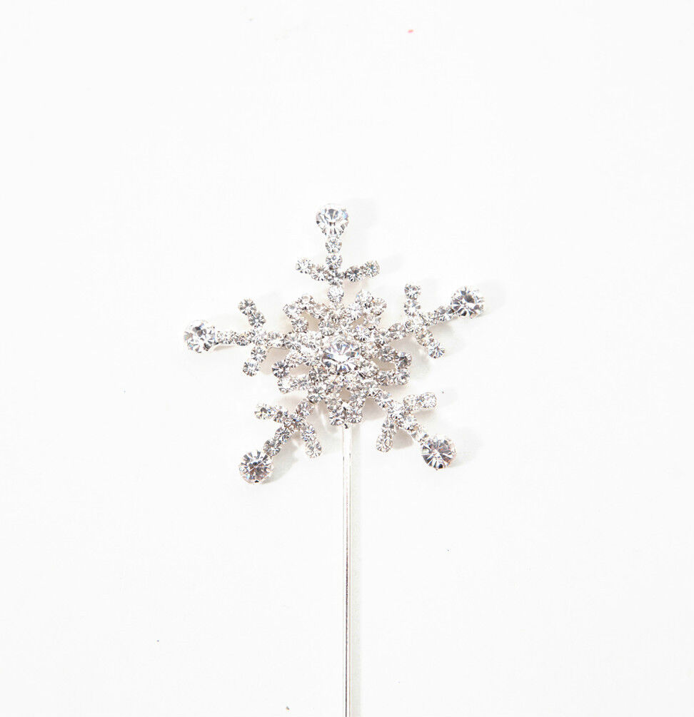 Silver Snowflake Diamante Cake Topper Disney Frozen