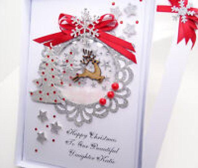Item  Luxury Personalised Handmade Christmas Card Husband Wife Mum Dad D Gift Box Luxury Personalised Handmade Christmas Card Husband Wife Mum Dad D