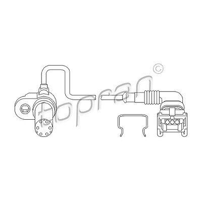 TOPRAN RPM Sensor, Engine Management Camshaft Position