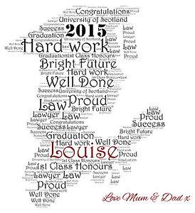 Personalised Graduation Word Art Print Daughter Son Male
