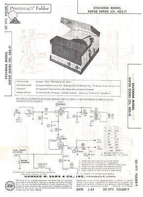 1964 SYLVANIA 45P20 RECORD PLAYER CHANGER PHONOGRAPH