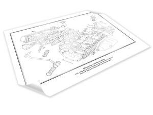HILLMAN IMP Engine Diagram Schematic Print A2 A3 Size Hand