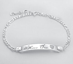 PERSONALIZED 925 STERLING SILVER LADIES HEART STAMP ID