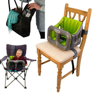 portable high chair booster swing garden ireland kids travel highchair inflatable seat - airtushi new 5060202901296 | ebay