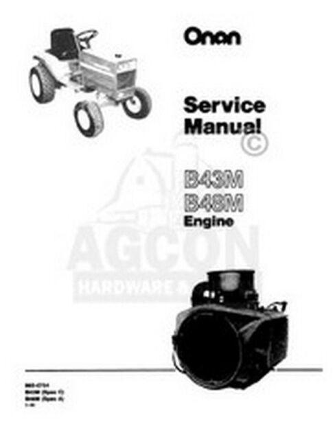 Onan B43m / B48m Engine Service Shop Repair Manual for