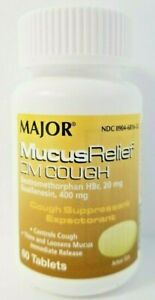 Major Mucus Relief DM Cough Guaifenesin 400mg 60 Tablets ...