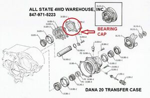 JEEP CJ WAGON TRUCK DANA 20 TRANS CASE REAR BEARING CAP