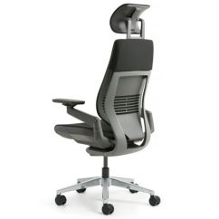 Steelcase Gesture Chair Rocking Bag Aluminum Lumbar Headrest Platinum Light Frame Graphite Ebay